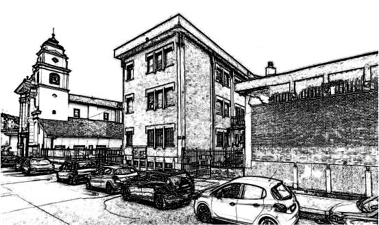 Teatro Pozzo Strada Torino paint MOD